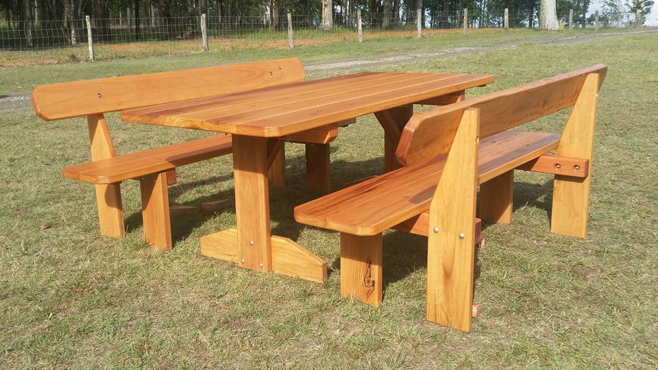 Bush Furniture 3 Piece Outdoor Setting, Outdoor Timber Furniture