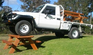Picnic Table and Truck