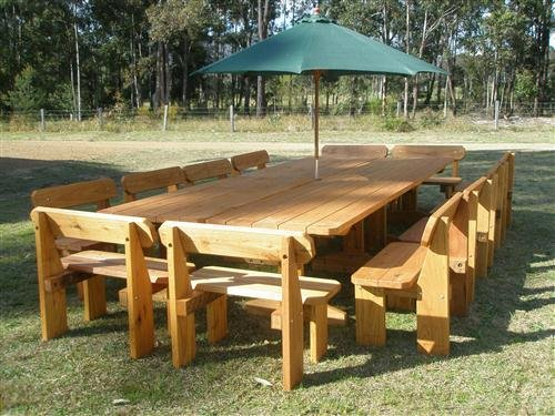 Bench Seat Outdoor Setting